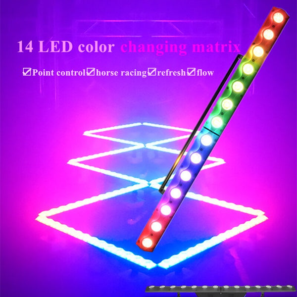 14pcs x 3w Wash Wall Light DMX Control Wall Washer Stage Lighting RGB 3in1 LED Wash Light for Nightclub Christmas LED Bar Light