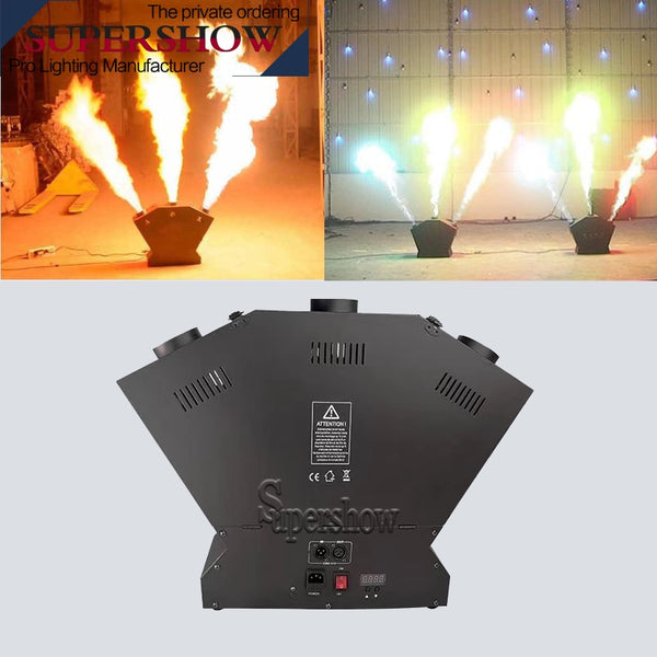 Stage professional equipment Fire Spray Jet Machine DMX 3 Heads Fire Flame Machine for dj disco concert stage effect show