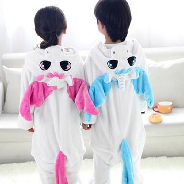 1 pc Flannel Unicorn animal Siamese pajamas suit children Home Furnishing coral thickening toilet version of baby  cTST0143 - LADSPAD.UK