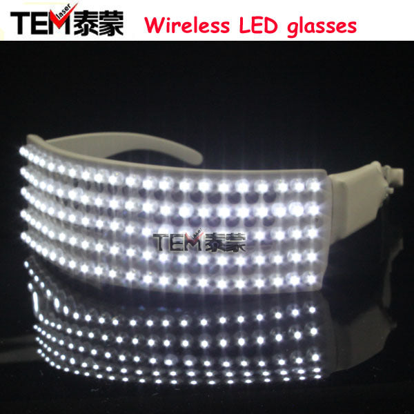 New Arrived LED Glasses White  Laser Glasses For Love Wedding Sex Woman Glasses Scream Costume LED Glasses For Parties - LADSPAD.COM