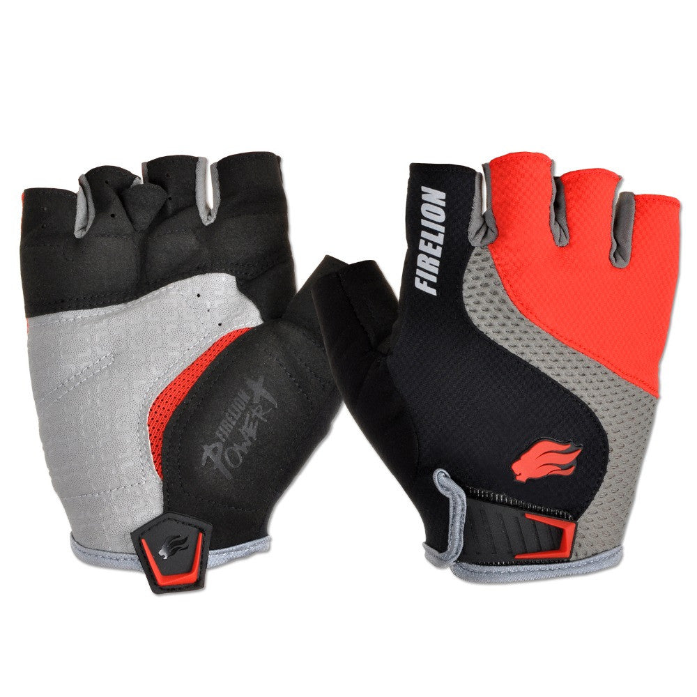 FIRELION Fingerless Cycling Gloves - LADSPAD.COM