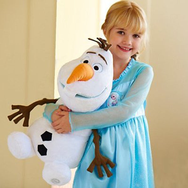 Disney Toys Olaf Plush Toys 22cm 30cm 50cm Frozen Cute Cartoon Snowman Stuffed Doll Brinquedos Juguetes Kids Gifts