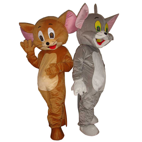 Jerry Mouse&Tom Cat costume/Cartoon Costumes/halloween/Mouse&Tom Cosplay/Christmas party mascot free shipping - LADSPAD.COM