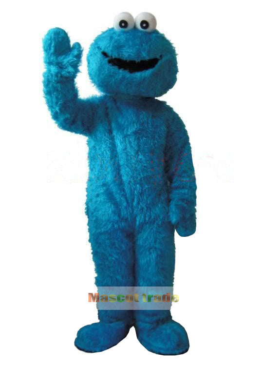Adults Sesame Street Blue Cookie Monster And Elmo Mascot Costume Sales High Auality Long Fur Elmo Mascot Costume Free Shipping - LADSPAD.UK