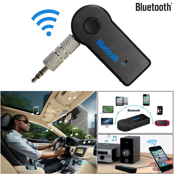 2017 Handfree Car Bluetooth Music Receiver Universal 3.5mm Streaming A2DP Wireless Auto AUX Audio Adapter With Mic For Phone MP3 - LADSPAD.UK