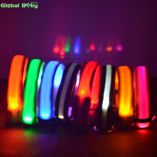 7Colors Nylon Night Safety LED Dogs Collar Lights Flashing Glow Pet Supplies Dog Cat Leash - LADSPAD.UK