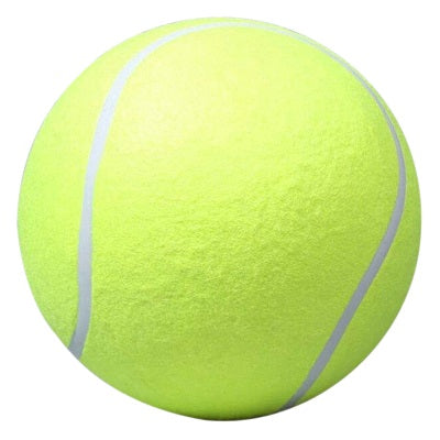 24CM Giant Tennis Ball For Pet Chew Toy Big Inflatable Tennis Ball Signature Mega Jumbo Pet Toy Ball Supplies Outdoor Cricket - LADSPAD.UK