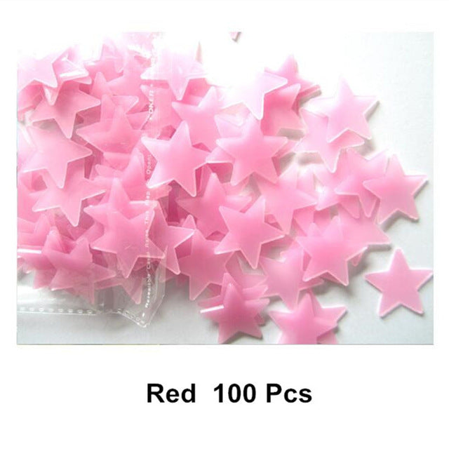 100 Luminous Fluorescent Star Stickers - LADSPAD.COM