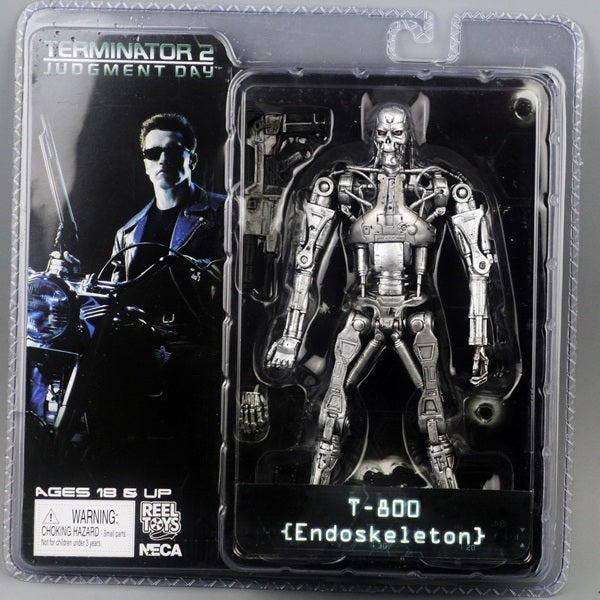 "New Box Free Shipping NECA The Terminator 2 Action Figure T800 Cyberdyne Showdown PVC Figure Toy 7""18cm - LADSPAD.COM"