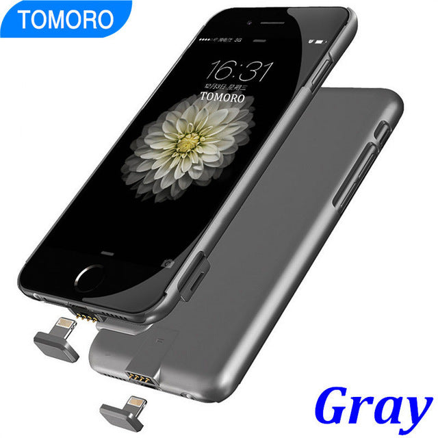 7 Slim Case Battery Thin Ultra Smart Charge Cover For iPhone 7 Plus Luxury Case Black Matt Gold Rose for iPhone7 Plus Hard Shell - LADSPAD.COM