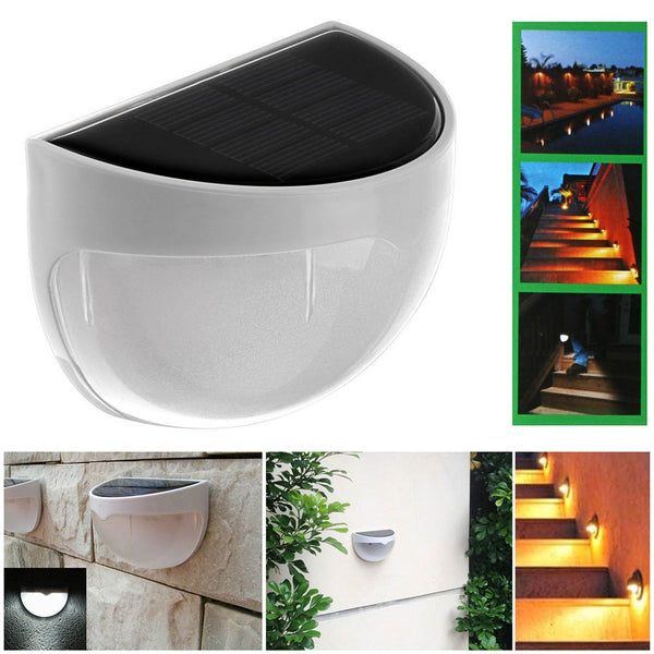 Waterproof 6 LED Solar Lamp Outdoor Garden Decoration Solar Power Panel Landscape Lawn Fence Gutter Wall LED Solar light Lamp - LADSPAD.COM