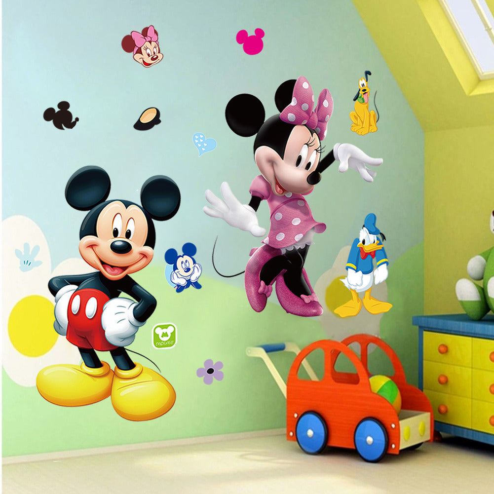 Mickey Mouse Minnie Vinyl Mural Wall Sticker Decals Kids Nursery Room Decor - LADSPAD.COM