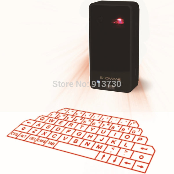 Virtual Laser Keyboard and Mouse for iPad iPhone tablet with Mini Bluetooth Speaker - LADSPAD.COM