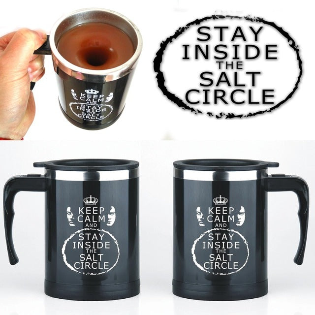 Light Magic Harry Potter Automatic self stirring mug Cup Light Magic Coffee mug Cups Stainless Steel Cup Surprise gift for best friend