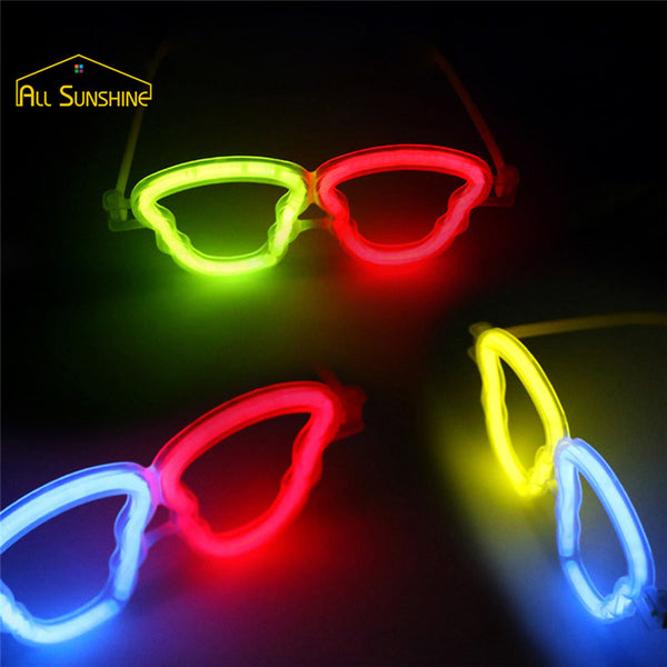 10 Multi Colour Glow Fluorescence LED Glasses - LADSPAD.UK