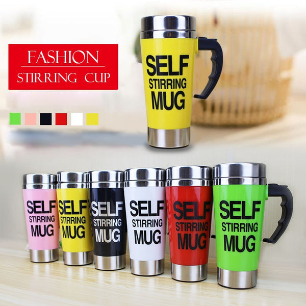 500ml Coffee Milk Automatic Mixing Cup Self Stirring Mug Stainless Steel Thermal Cup Electric Lazy Smart Double Insulated Cup - LADSPAD.COM