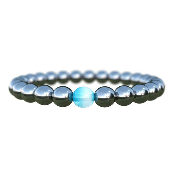 Biomagnetism Nature Magnetic Bracelet Handmade 8mm Beads Natural Stone Health Care Weight Loss Bracelet Wristband DIY Jewerly - LADSPAD.UK