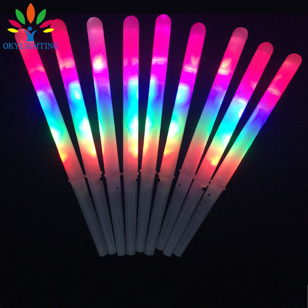 10 Colourful LED Cotton Candy Glow Light up Floss Sticks - LADSPAD.UK