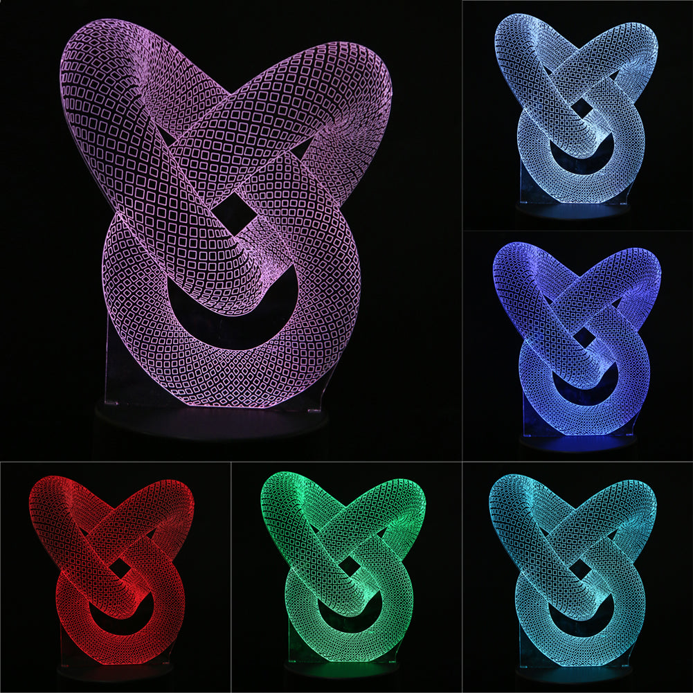Mesmerising 3D Optical Illusion LED Lamp Changes to 7 different Colours - LADSPAD.COM