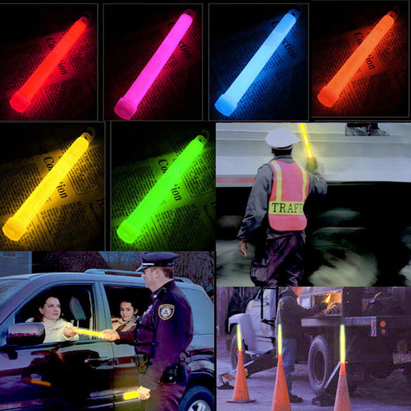 10 6 inch Industrial Grade Glow Sticks - LADSPAD.UK