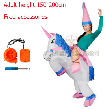 Kids Adult Fan Inflatable T Rex Horse Gorilla Sumo Cow Unicorn Halloween Costume Women Men Cosplay Inflatable Dinosaur Costume - LADSPAD.UK