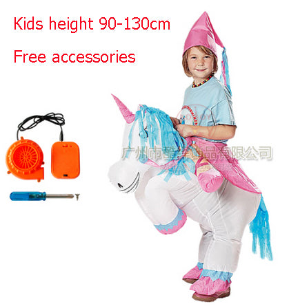 Kids Adult Fan Inflatable T Rex Horse Gorilla Sumo Cow Unicorn Halloween Costume Women Men Cosplay Inflatable Dinosaur Costume - LADSPAD.COM