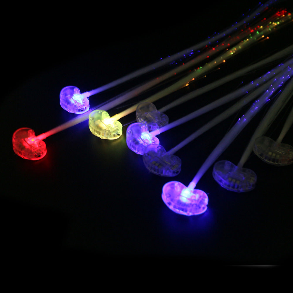 10 Luminous Light Up LED  Flash Braid Hair Glow - LADSPAD.COM