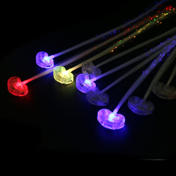 10 Luminous Light Up LED Flash Braid Hair Glow - LADSPAD.UK