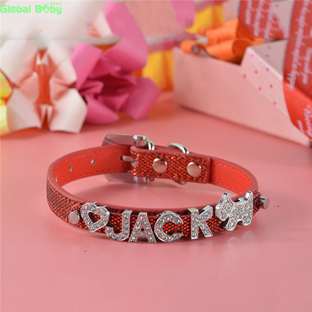 10MM Letters and Charms Named Pet Collar Necklace Dog Cat Collar - LADSPAD.UK
