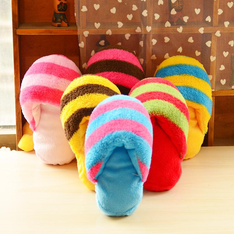 Cute Plush Slipper Shape Puppy Squeaky Chew Toy - LADSPAD.UK