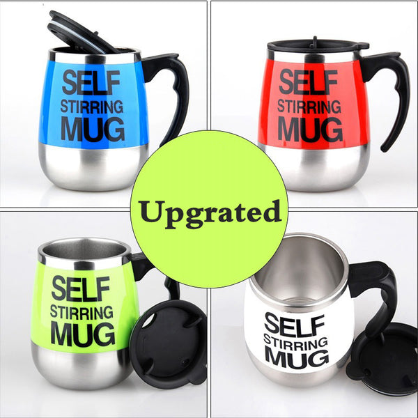 450ml Self Stirring Mug Automatic Mixing Mug for Coffee Milk Grain Oat Stainless Steel Thermal Cup Double Insulated Smart Cup - LADSPAD.COM