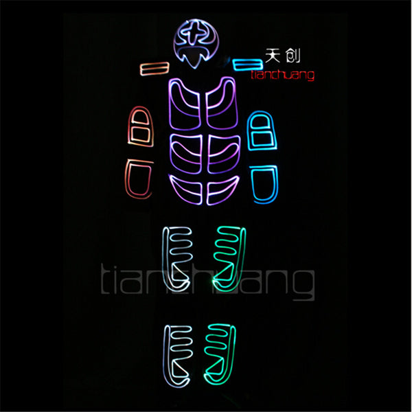 TC-126 RGB clothes Full color LED colorful light robot costumes mens party dj wear Programe ballroom disco stage dance suit mens - LADSPAD.COM