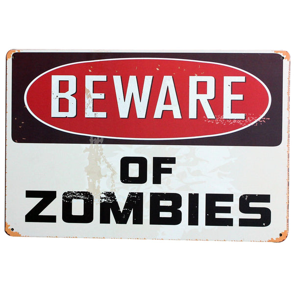 BEWARE OF ZOMBIES Plus Many More Plaques - LADSPAD.UK