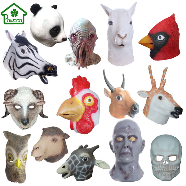 Natural Latex Animal Halloween Masks - LADSPAD.UK