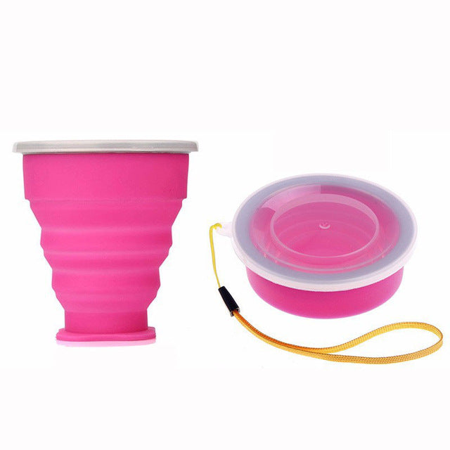 New 200mL Vogue Outdoor Silicone Retractable Water Bottle - LADSPAD.UK