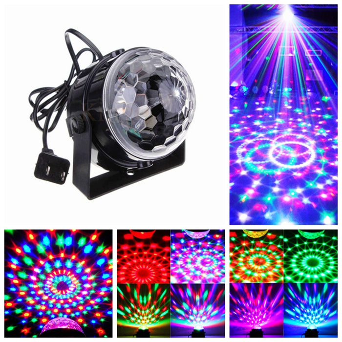 Voice Control RGB LED Stage Lamps Crystal Magic Ball Sound Control Laser Stage Effect Light Party Disco Club DJ Light - LADSPAD.COM