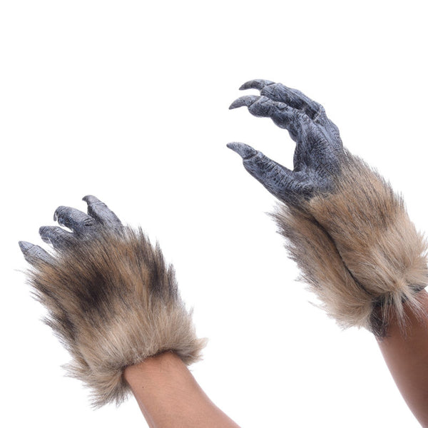 Horror Latex Wolf GloveS - LADSPAD.UK