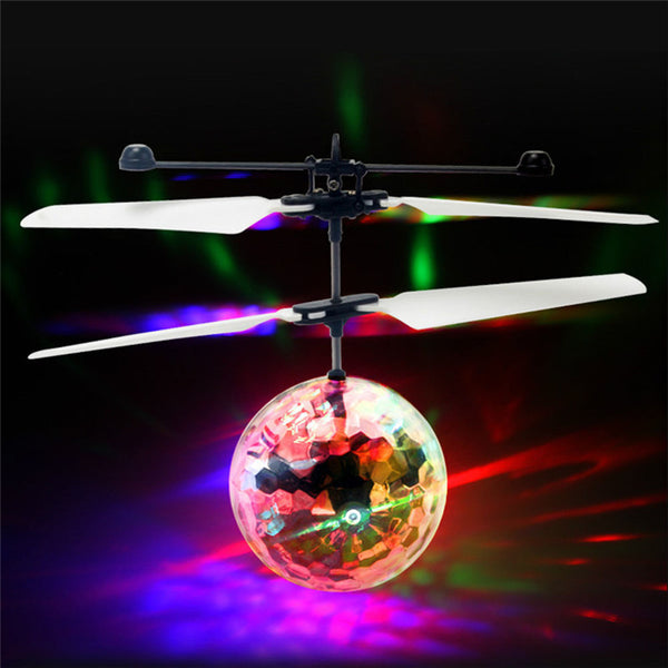 Amazing Flying LED Disco Ball Drone Helicopter - LADSPAD.COM