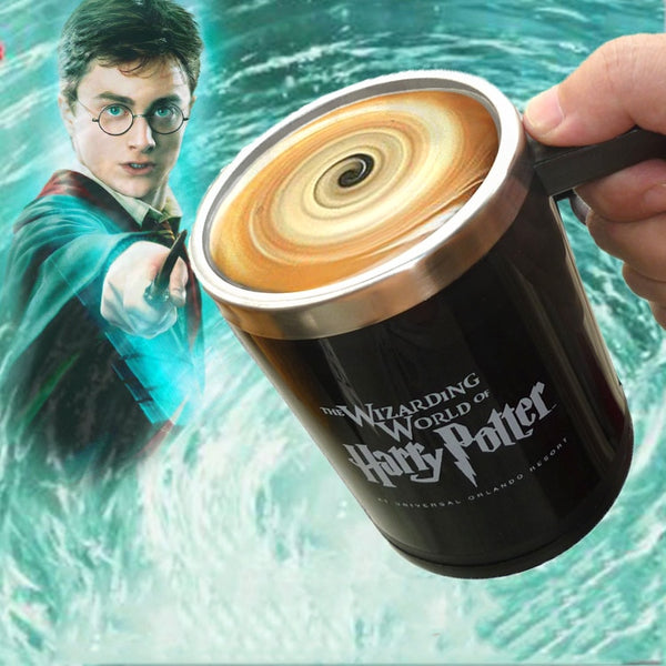 Light Magic Harry Potter Automatic self stirring mug Cup Light Magic Coffee mug Cups Stainless Steel Cup Surprise gift for best friend - LADSPAD.UK