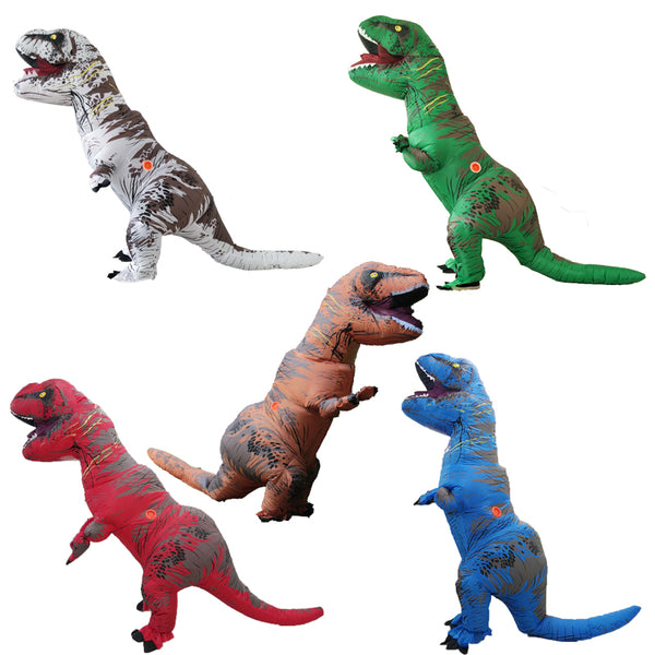 Inflatable Dinosaur Costume Fantasia Adulto Halloween Cosplay Dinosaur Costumes For Adult Disfraces Adultos T-REX Fan Operated - LADSPAD.UK