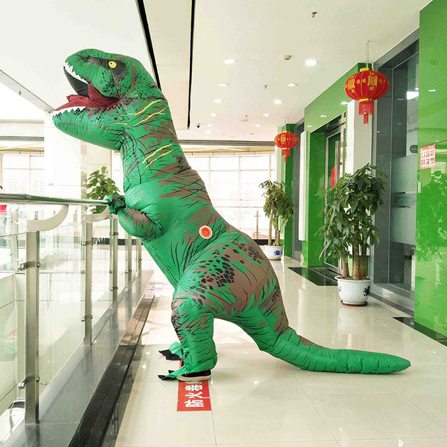 Inflatable Dinosaur Costume Fantasia Adulto Halloween Cosplay Dinosaur Costumes For Adult Disfraces Adultos T-REX Fan Operated - LADSPAD.COM