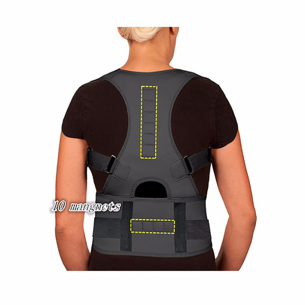Magnetic Posture Corrector for Men Women Magnetic Therapy Corset Back Straightener Shoulder Belt Correcteur De Posture AFT-B002 - LADSPAD.COM