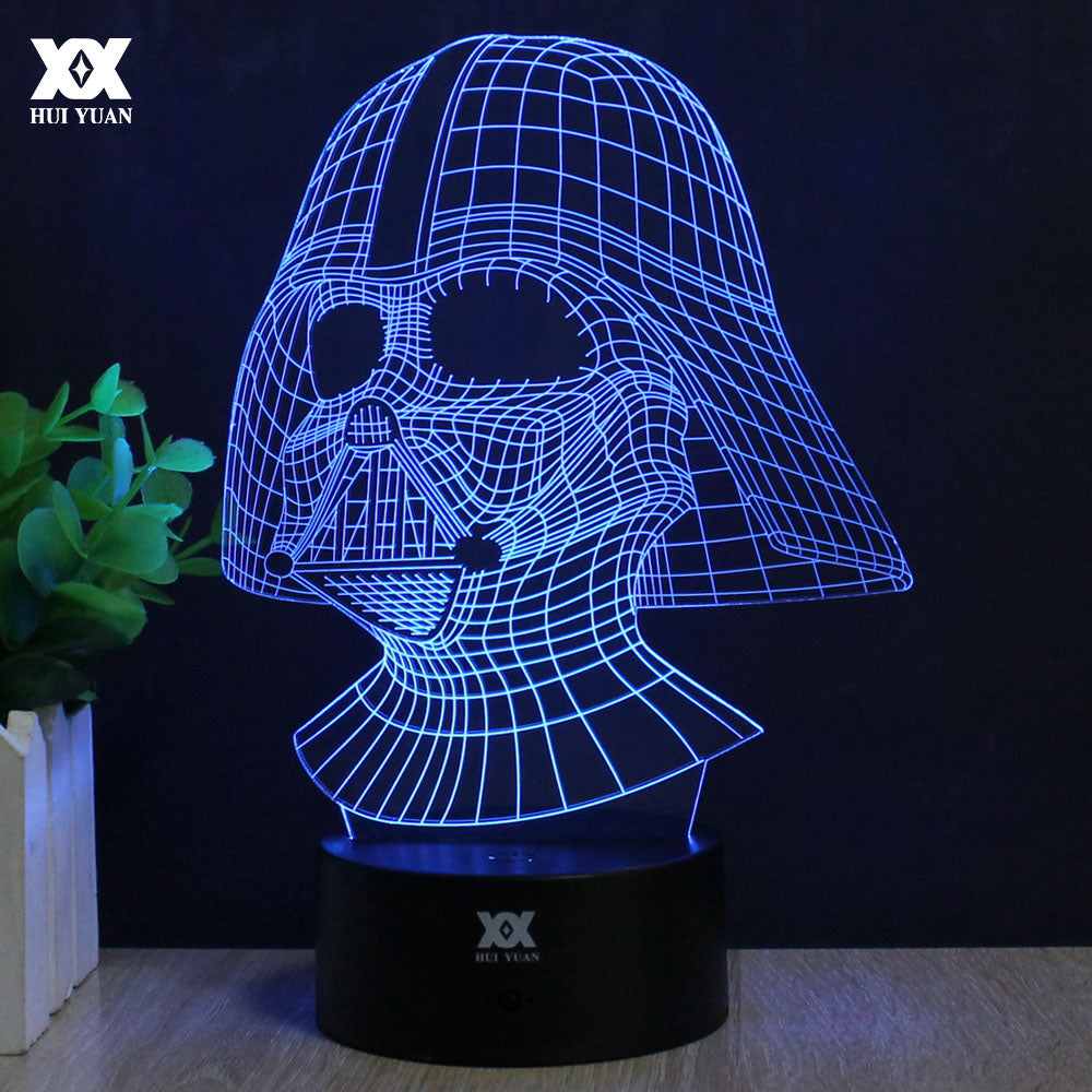 Star Wars Lamp Darth Vader Anakin Skywalker 3D Lamp BB-8 LED Novelty Night Lights USB Light Glowing Child's Gift HUI YUAN Brand - LADSPAD.COM