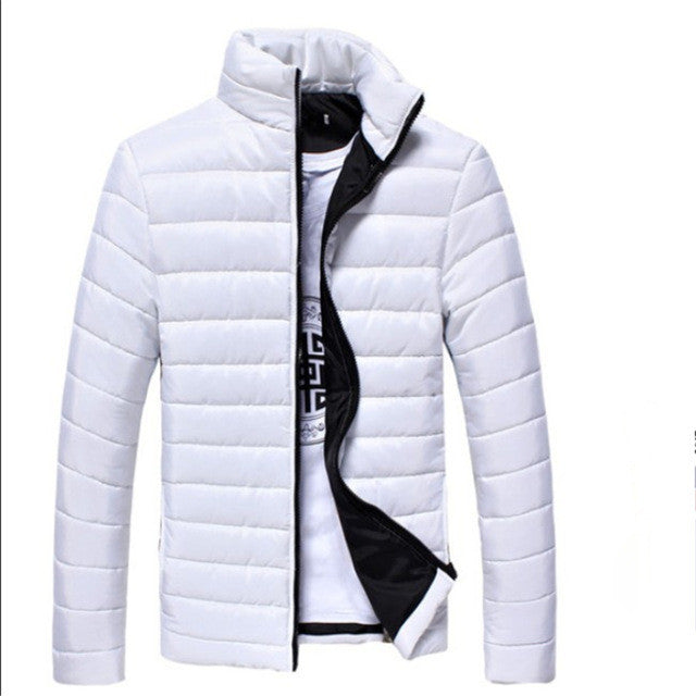 Mens Winter Long Sleeve Solid Winter Coat - LADSPAD.COM