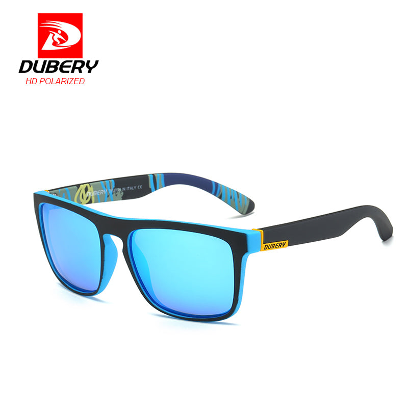 DUBERY Polarized Mirror Sunglasses Men's Aviation Driving Male Sun Glasses For Men Clear Luxury Brand Designer Oculos - LADSPAD.COM