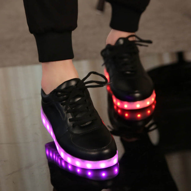 USB Charging Led Glowing Luminous Shoes