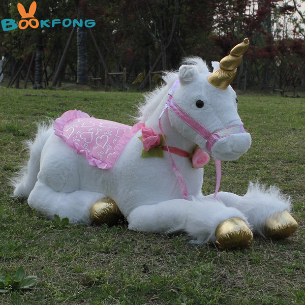 85cm Jumbo White Unicorn - LADSPAD.UK