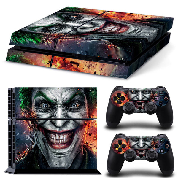 Waterproof Dustproof Vinyl Decal Skin Cover & PS4 Remote Controllers Skin Stickers - The Joker Smile Clown Prince of Crime - LADSPAD.COM