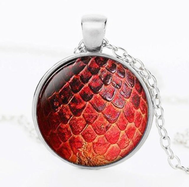 Wholesale Pendant Necklace Large Egg Necklace Glass Dome Game Pendant Game Of Thrones Dragon Egg Dragon necklace Jewelry HZ1 - LADSPAD.COM