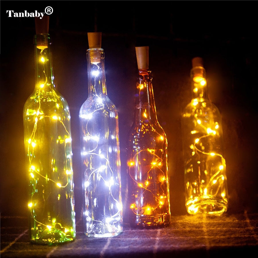 Tanbaby2M 20LED Wine Bottle Light Cork Shape Battery Copper Wire String Lights for Bottle DIY,Christmas, Wedding and Party Decor - LADSPAD.UK